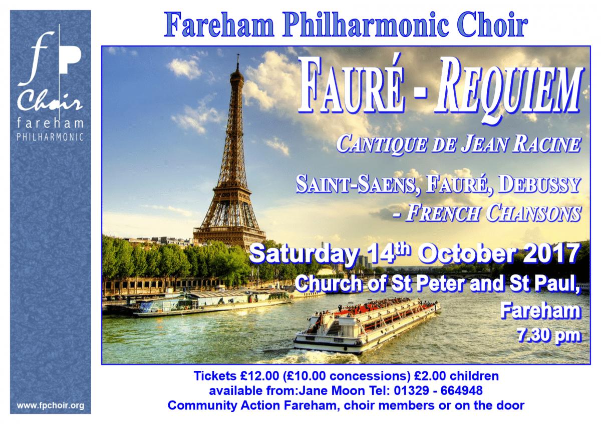 Fareham Philharmonic Choir concert: Fauré's Requiem - Fareham Philharmonic Choir