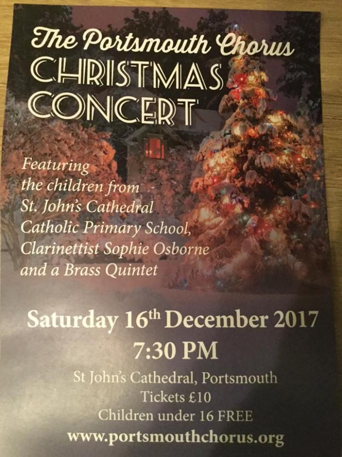 Portsmouth Chorus & St John's Cathedral Children's Choir Christmas Concert - The Portsmouth Chorus
