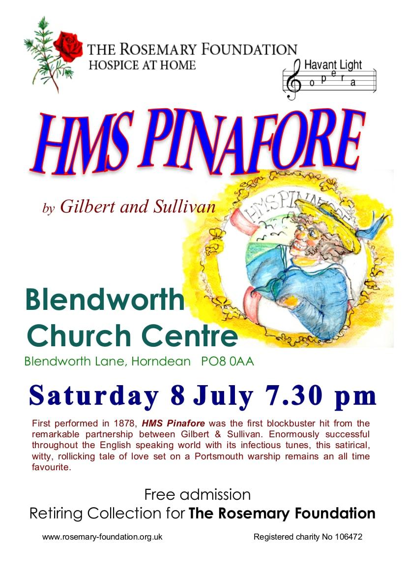 HMS Pinafore – for The Rosemary Foundation - Havant Light Opera