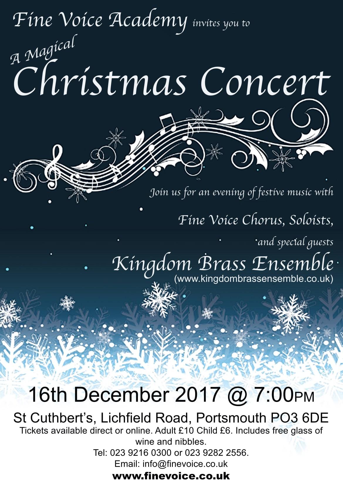 A Magical Christmas Concert - Fine Voice Academy