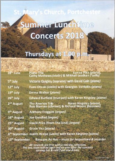 Edward Burfield and Karen Kingsley at St. Mary's Church Portchester - St. Mary's Church Portchester Music Events