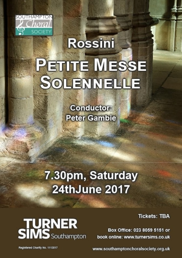 """Rossini's """"Petite Messe Solennelle"""" - Southampton Choral Society"""