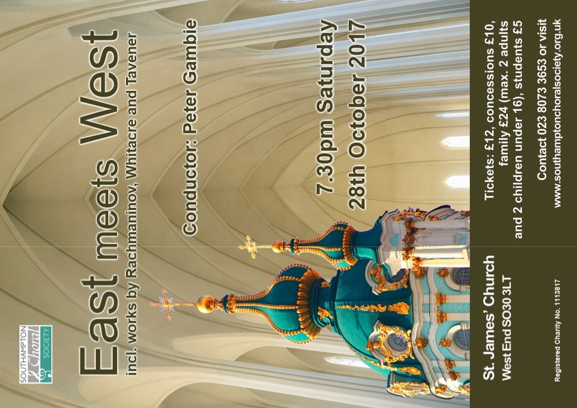East meets West – Russian and American music - Southampton Choral Society