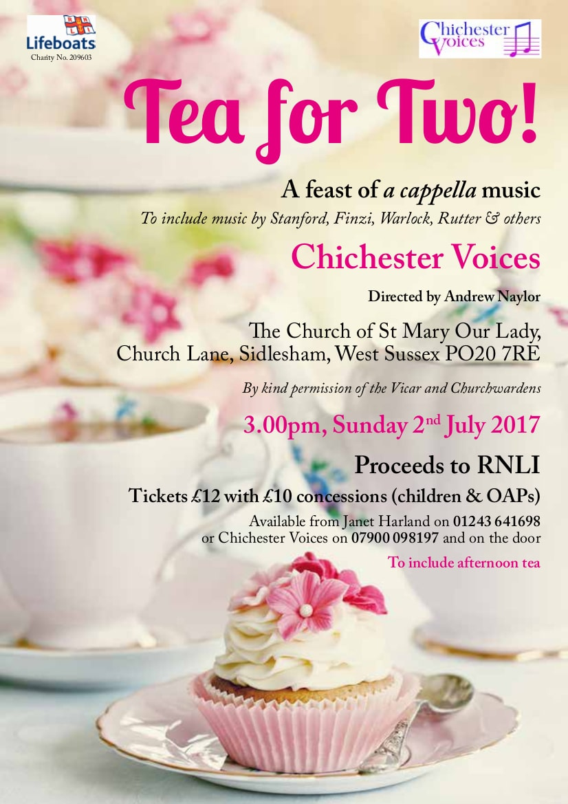 Chichester Voices – Tea for Two! - Chichester Voices