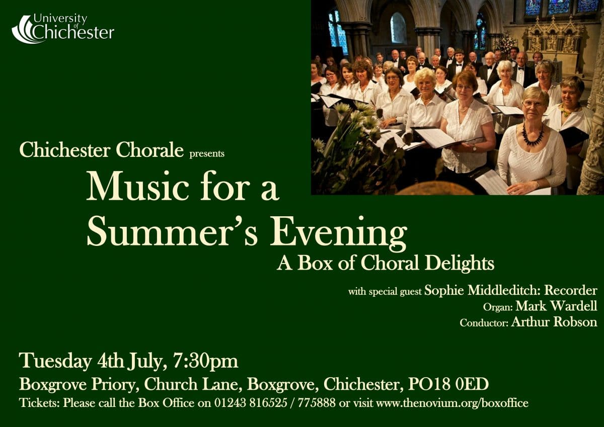 Music for a Summer's Evening – A Box of Choral Delights - Chichester Chorale