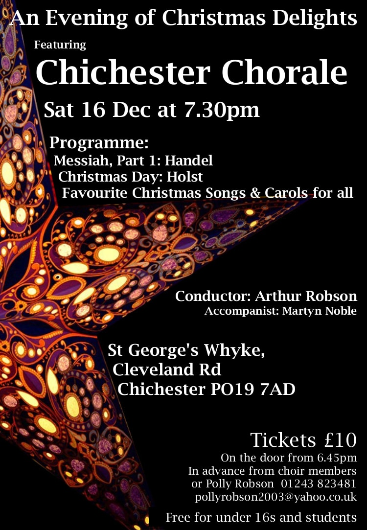 Evening of Christmas Delights featuring The Chichester Chorale - Chichester Chorale