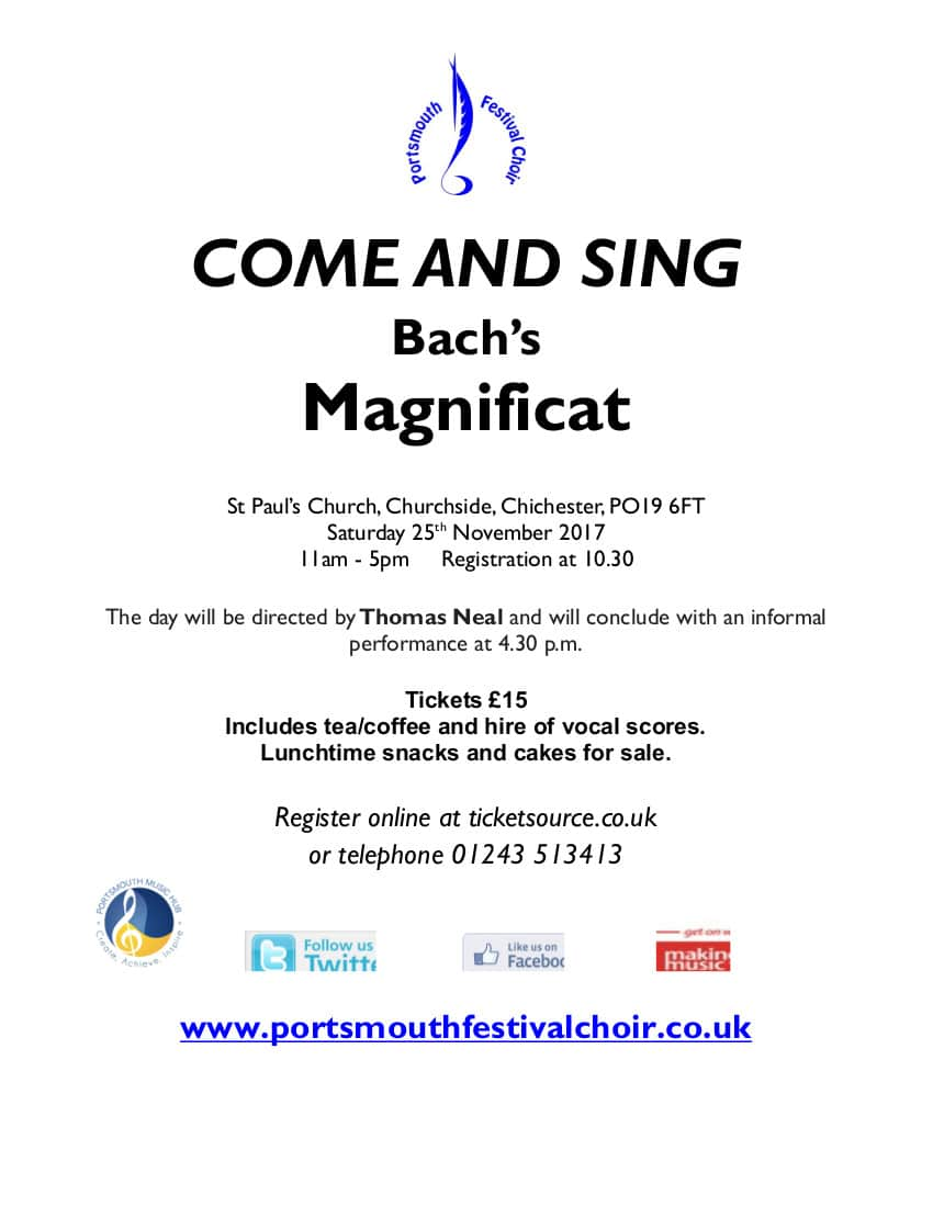 Come and Sing Bach Magnificat - Portsmouth Festival Choir