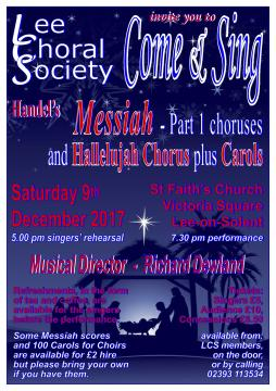 Come and Sing Messiah with Lee Choral Society - Lee Choral Society