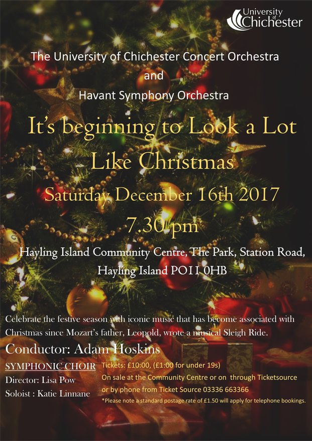 """It's beginning to look a lot like Christmas"" - University of Chichester Choirs and Orchestras"