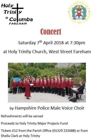 Hampshire Police Male Voice Choir fundraiser concert - Hampshire Police Male Voice Choir