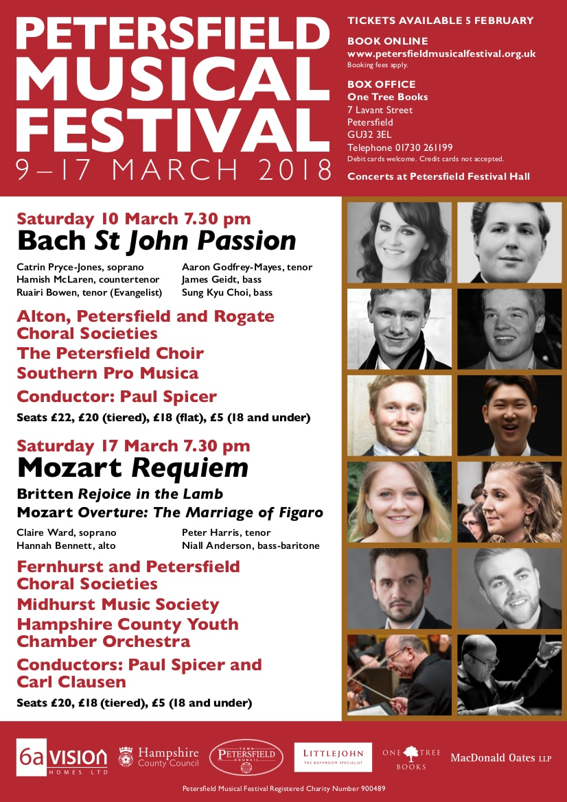 Bach St John Passion - Petersfield Music Festival