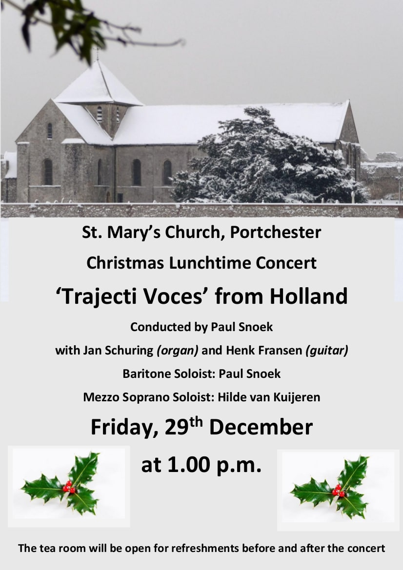 'Trajecti Voces' from Holland - St. Mary's Church Portchester Music Events