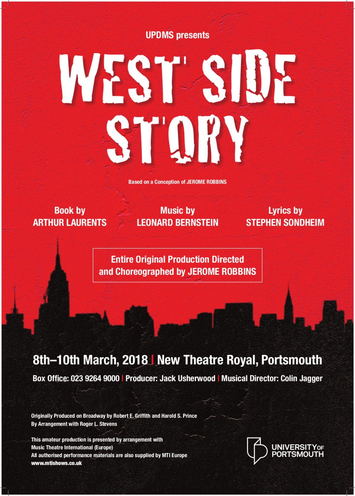 West Side Story - University of Portsmouth Choirs and Orchestras