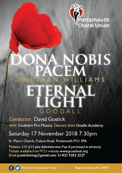 Armistice Anniversary Concert - The Portsmouth Choral Union