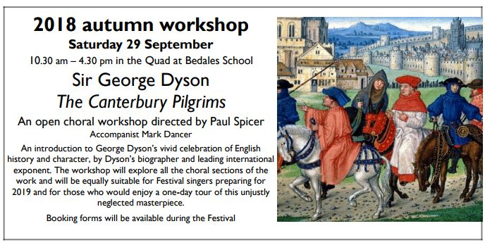 Petersfield Music Festival Autumn Workshop: Dyson's The Canterbury Pilgrims - Petersfield Music Festival