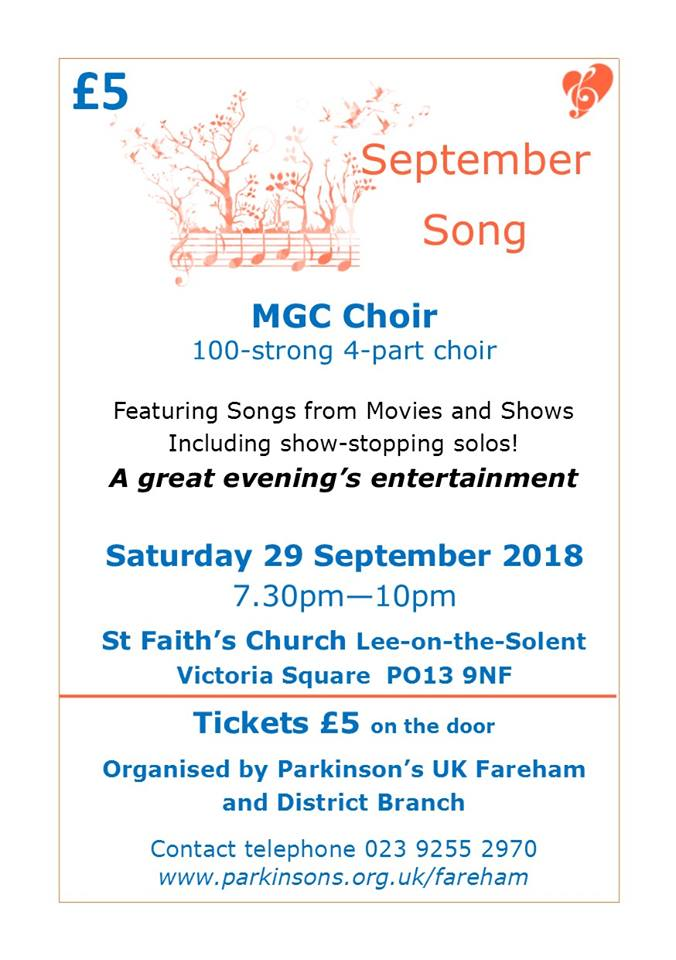 Charity Concert supporting Parkinsons by the Milton Glee Club - The Milton Glee Club