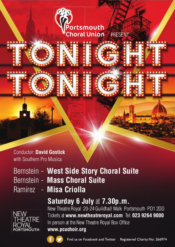 Tonight, Tonight…by the Portsmouth Choral Union - The Portsmouth Choral Union