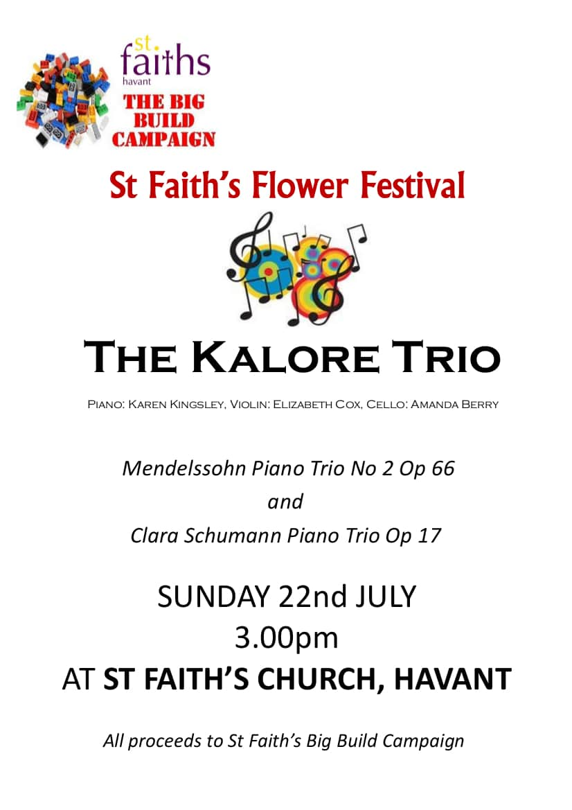 The Kalore Trio at St Faith's, Havant - St Faith's Church Havant music events