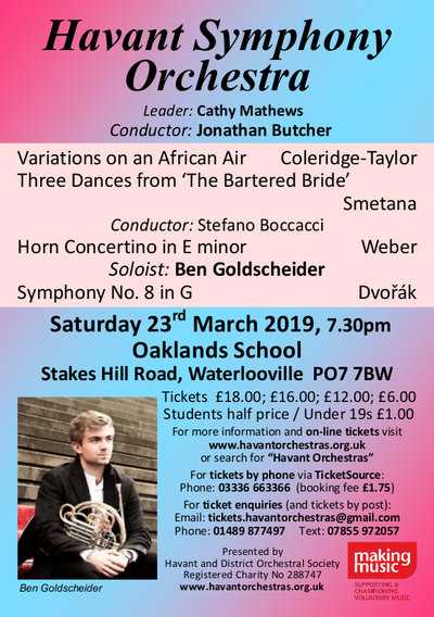 The song and dance music of Africa and Eastern Europe with the Havant Symphony Orchestra - Havant Symphony Orchestra