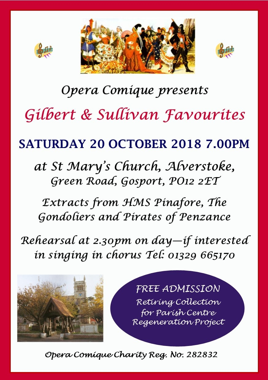 Opera Comique: Excerpts from HMS Pinafore, The Gondoliers and the Pirates of Penzance - Opera Comique