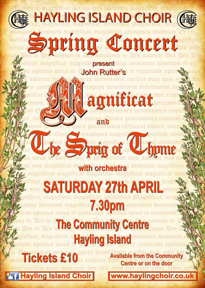 Hayling Island Choir spring concert: Rutter's Magnificat & The Sprig of Thyme - Hayling Island Choir