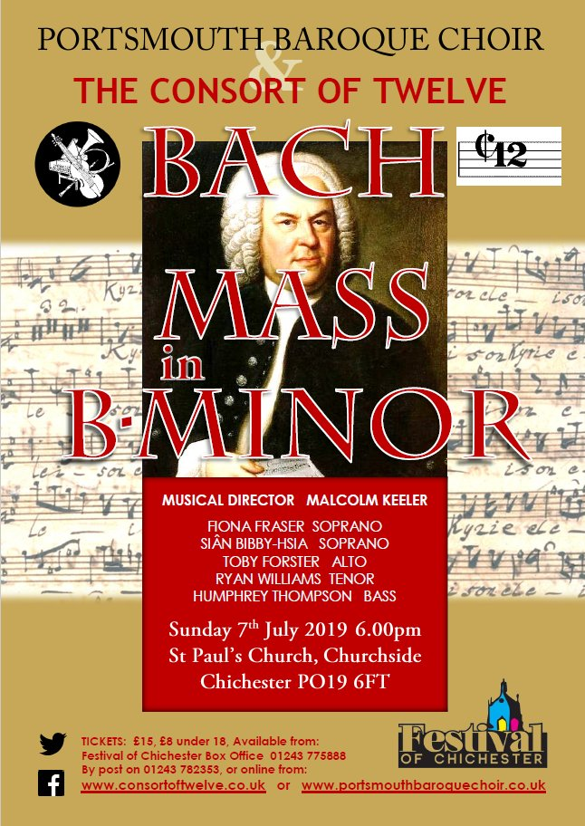 The Consort of Twelve with the Portsmouth Baroque Choir: Bach's B minor Mass - Portsmouth Baroque Choir