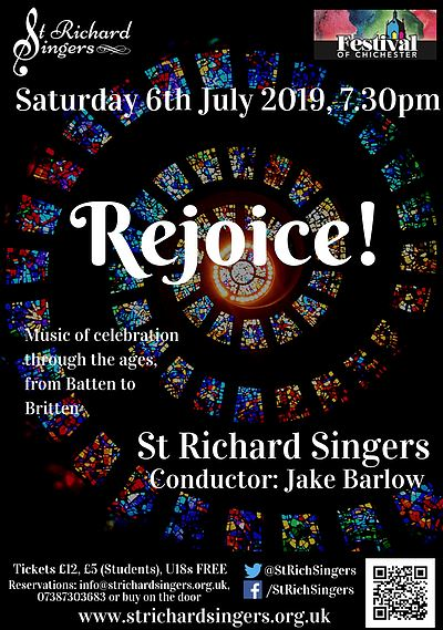 "St Richard Singers: ""Rejoice!"" - St Richard Singers"