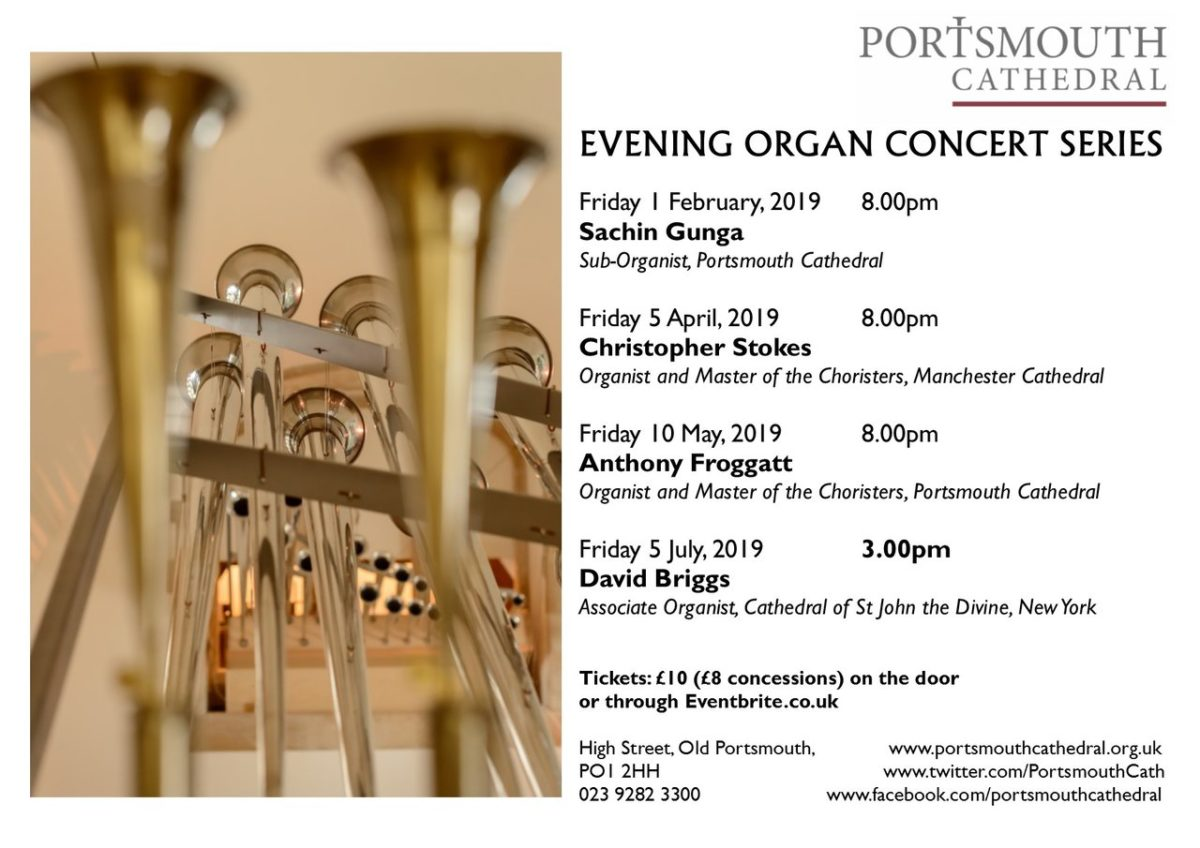 Portsmouth Cathedral Evening Organ Series Concert - Portsmouth Cathedral Music