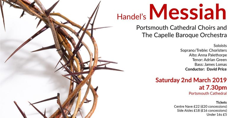 Handel – Messiah with the Portsmouth Cathedral Choir and Capelle Baroque Orchestra - Portsmouth Cathedral Music