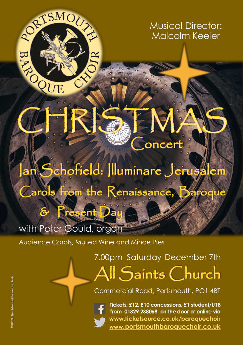 Portsmouth Baroque Choir Christmas Concert: 'Illuminare Jerusalem' - Portsmouth Baroque Choir