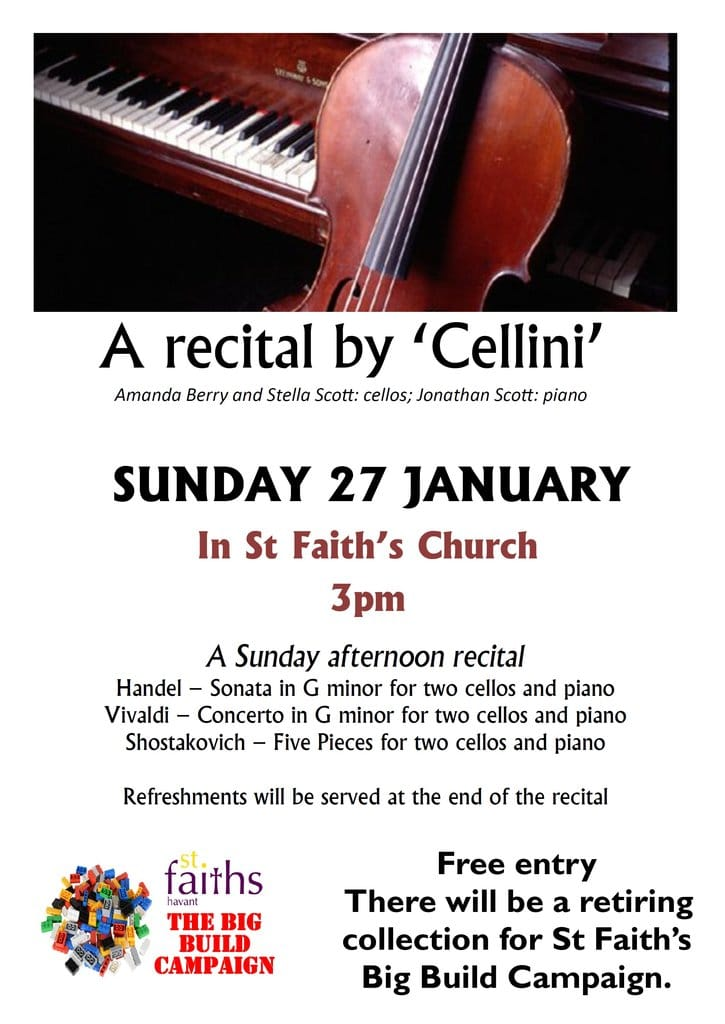 "A recital by ""Cellini"" - St Faith's Church Havant music events"