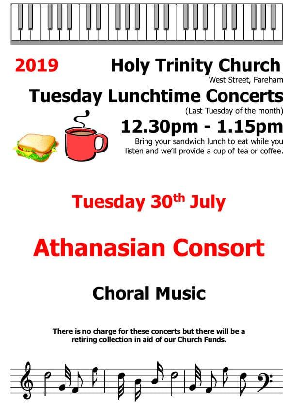 Holy Trinity Church, Fareham – Tuesday Lunchtime Concert: Athanasian Consort - Holy Trinity Fareham Music Events
