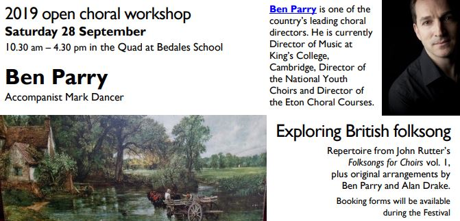 Petersfield Music Festival: Open Choral Workshop – Exploring British folksong - Petersfield Musical Festival