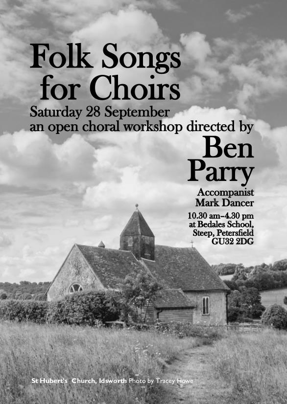 Petersfield Music Festival: Open Choral Workshop – Folk Songs for Choirs - Petersfield Musical Festival