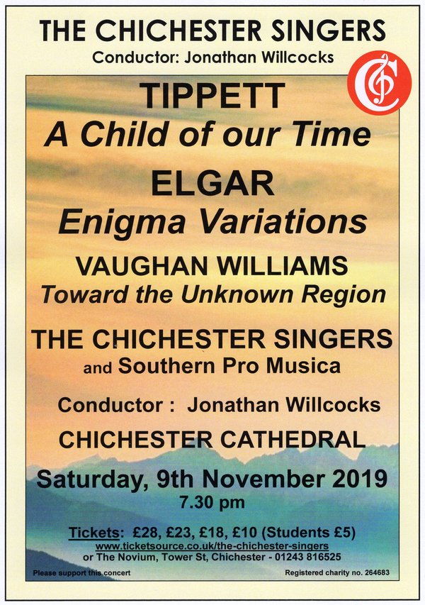 The Chichester Singers: A Child of Our Time - The Chichester Singers