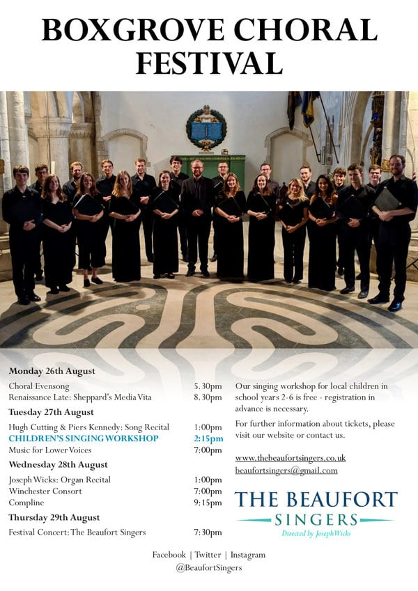 Boxgrove Choral Festival, 26-29 August - Music in Portsmouth