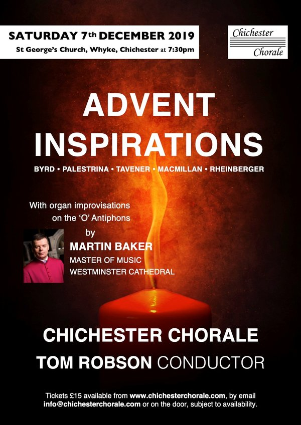 Chichester Chorale Christmas concert: Advent Inspirations - Chichester Chorale