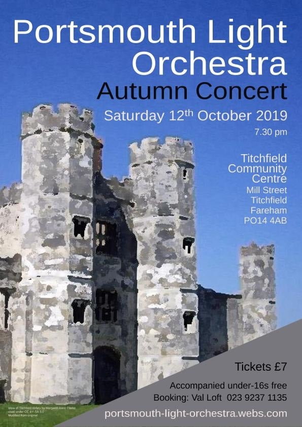 Portsmouth Light Orchestra Autumn 2019 Concert - Portsmouth Light Orchestra