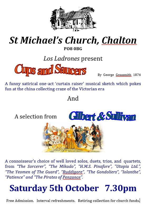 "Los Ladrones: ""Cups and Saucers"" and selections from Gilbert and Sullivan - Los Ladrones"