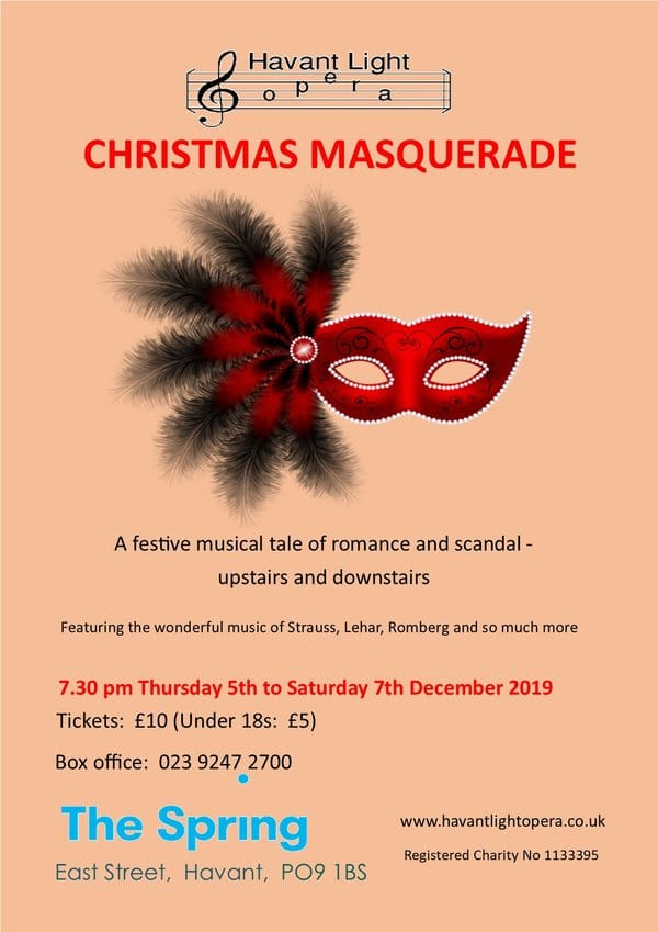 """Christmas Masquerade"" with the Havant Light Opera - Havant Light Opera"