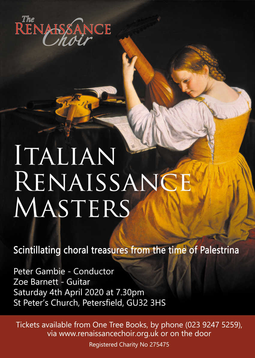 Italian Renaissance Masters – scintillating choral treasures from the time of Palestrina - The Renaissance Choir