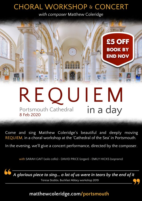 """Requiem in a Day"" with Matthew Coleridge - XX Miscellaneous Performers XX"