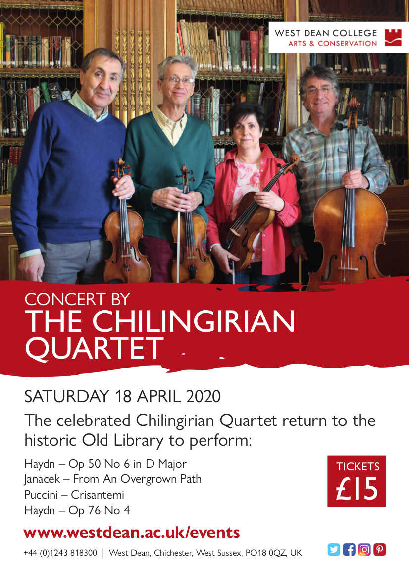The Chilingirian Quartet at West Dean - West Dean College music events