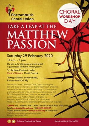 Take a leap at the Matthew Passion with the Portsmouth Choral Union - The Portsmouth Choral Union