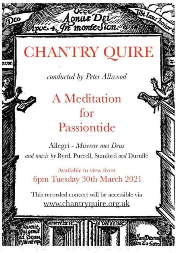 Chantry Quire: A Meditation for Passiontide - Chantry Quire