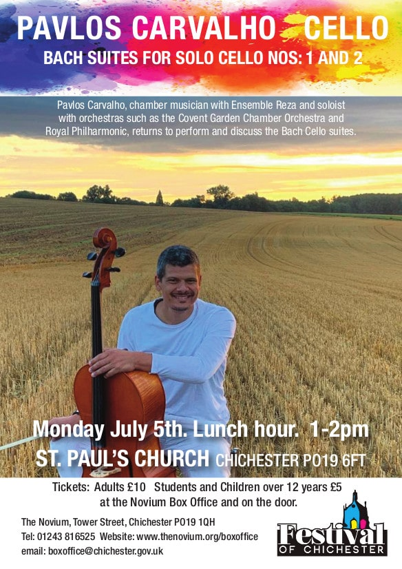 The Bach Cello Suites with Pavlos Carvalho - Festival of Chichester